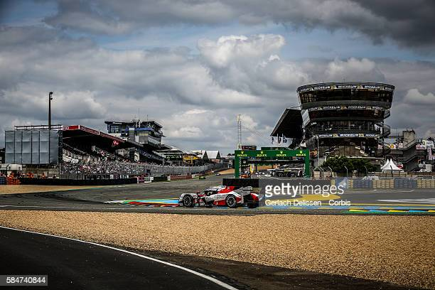 Toyota Gazoo Racing , #6 Toyota TS050 Hybrid with Drivers Stephane Sarrazin , Michal Conway and Kamui Kobayashi during the 84th running of the Le...