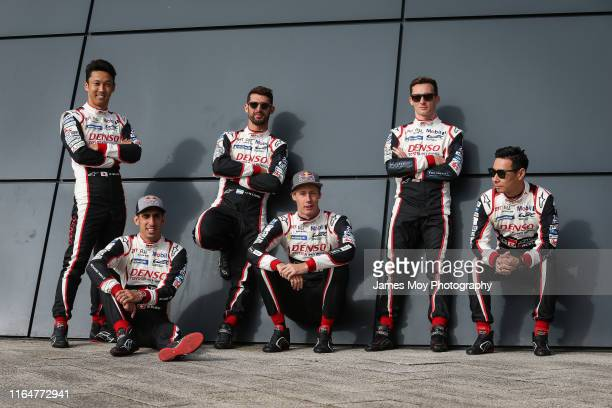 Toyota Gazoo Racing drivers Kazuki Nakajima of Japan and Toyota Gazoo Racing Sebastien Buemi of Switzerland and Toyota Gazoo Racing Jose Maria Lopez...