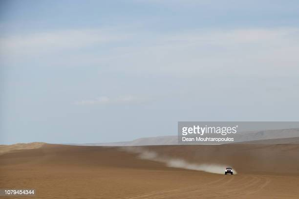 Toyota Gazoo Racing Sa no 302 TOYOTA HILUX car driven by Giniel De Villiers of South Africa and Dirk Von Zitzewitz of Germany compete in the desert...