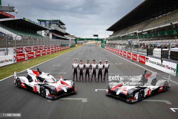 Toyota Gazoo Racing team photo Mike Conway of Great Britain and Toyota Gazoo Racing Kamui Kobayashi of Japan and Toyota Gazoo Racing Jose Maria Lopez...