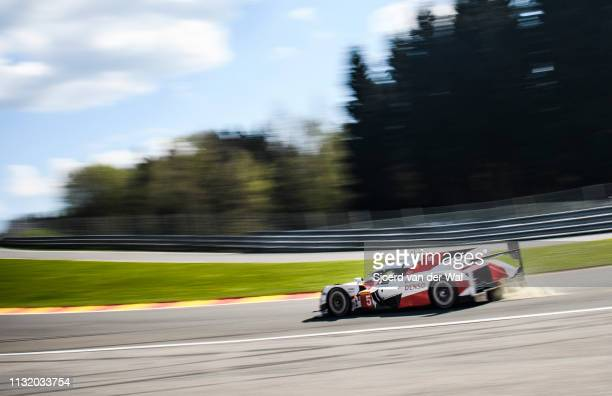 Toyota GAZOO TS050 Hybrid LMP1 race car driven by A. DAVIDSON / S. BUEMI / K. NAKAJIMA driving in Eau Rouge during the 6 Hours of Spa-Francorchamps...