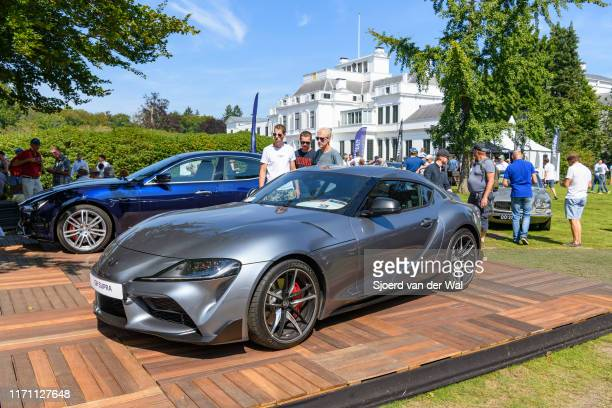 Toyota GR Supra modern Japanese sports car on display at the 2019 Concours d'Elegance at palace Soestdijk on August 25 2019 in Baarn Netherlands The...