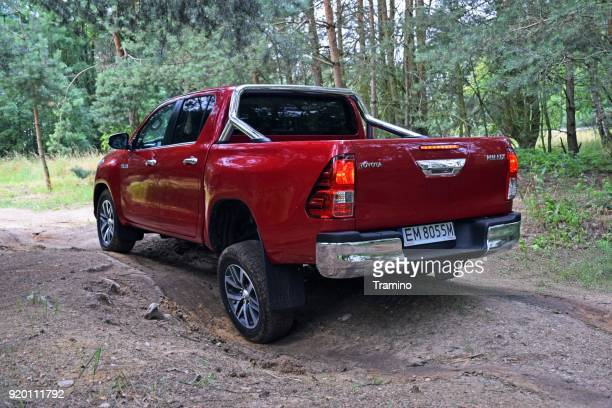 Toyota Hilux on the off-road area