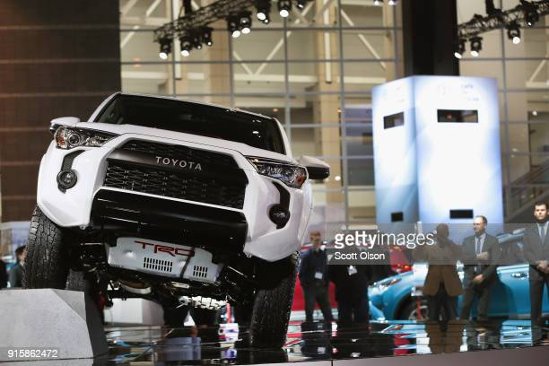 Toyota introduces the 4Runner TRD Pro at the Chicago Auto Show on February 8, 2018 in Chicago, Illinois. The show is the nation's largest and...
