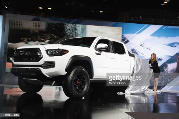 Toyota introduces the Tacoma TRD Pro at the Chicago Auto Show on February 8, 2018 in Chicago, Illinois. The show is the nation's largest and...
