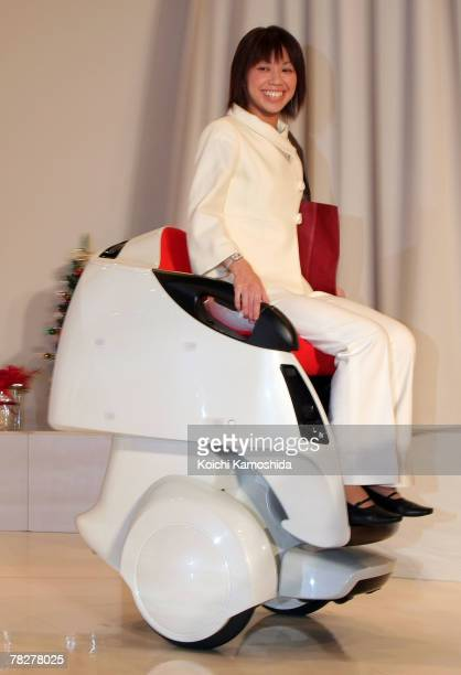 Toyota launches a Mobility Robot 'Mobina' at Universal Design Showcase on December 62007 in Tokyo Japan The robot is able to move over uneaven ground...