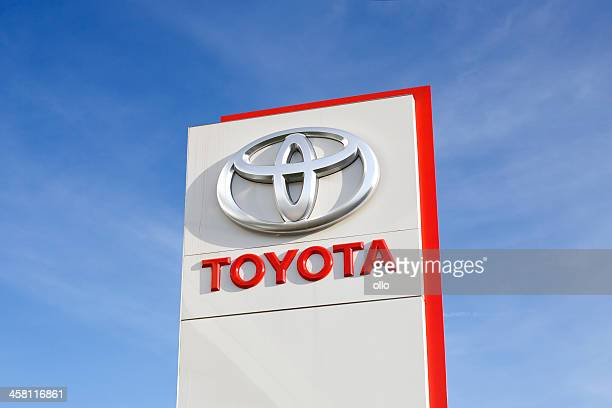 toyota logo - toyota motor co stock pictures, royalty-free photos & images
