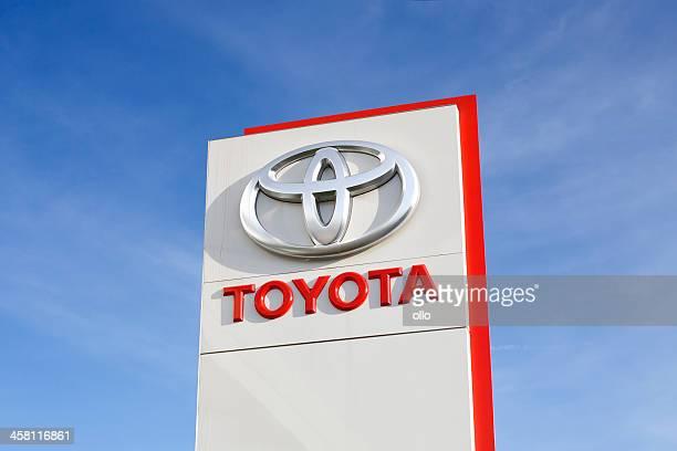 トヨタのロゴ - トヨタ自動車 ストックフォトと画像