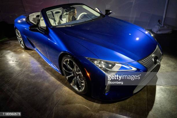 Toyota Motor Corp. Lexus LC 500 convertible vehicle is displayed during a reveal event ahead of the Los Angeles Auto Show in Los Angeles, California,...