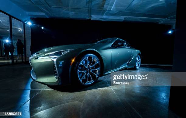 Toyota Motor Corp. Lexus LC 500 vehicle is displayed during a reveal event ahead of the Los Angeles Auto Show in Los Angeles, California, U.S., on...