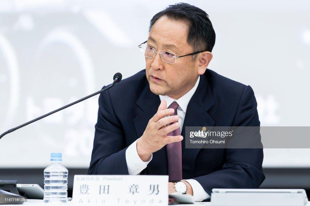 Toyota President Akio Toyoda Press Conference : ニュース写真