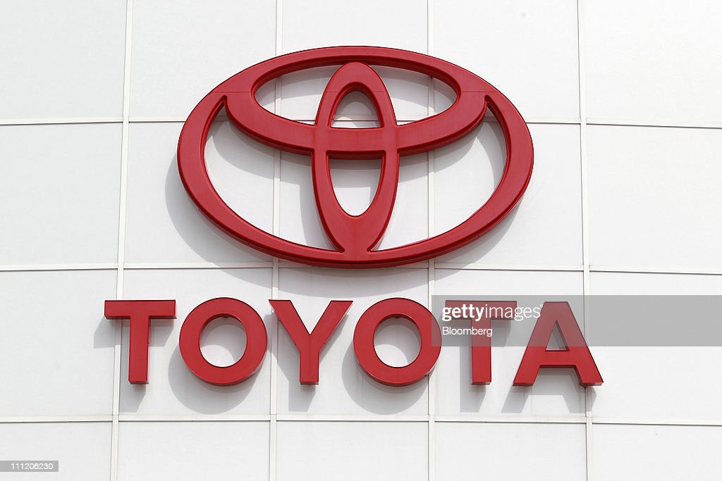 Toyota Motor Corp Signage Is Displayed At Victory Toyota Scion Dealership  In Canton Michigan US On