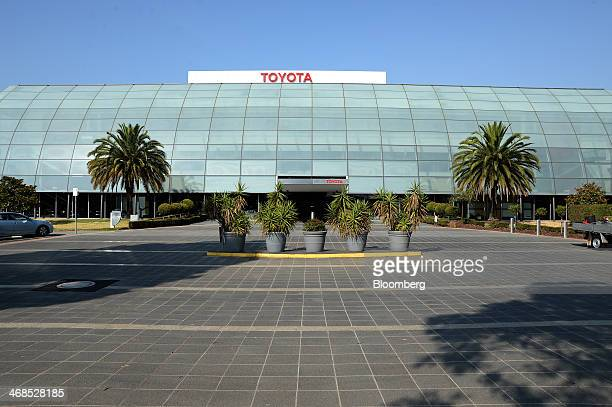 Toyota Motor Corp signage is displayed atop the company's Australian headquarters in the Port Melbourne suburb of Melbourne Australia on Tuesday Feb...