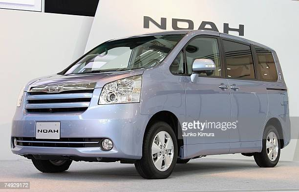 Toyota Motor Corporations Fully Redesigned Minivan Noah Is On Display During A Press Conference June 27