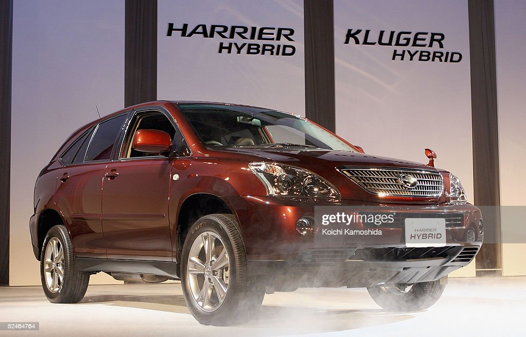 Toyota Motor Corporation S Newly Developed Hybrid Suv The Harrier Is On Display During A