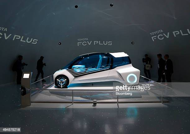 Toyota Motor Corp's FCV Plus Concept vehicle stands on display at the Tokyo Motor Show in Tokyo Japan on Wednesday Oct 28 2015 Toyota Motor Corp...