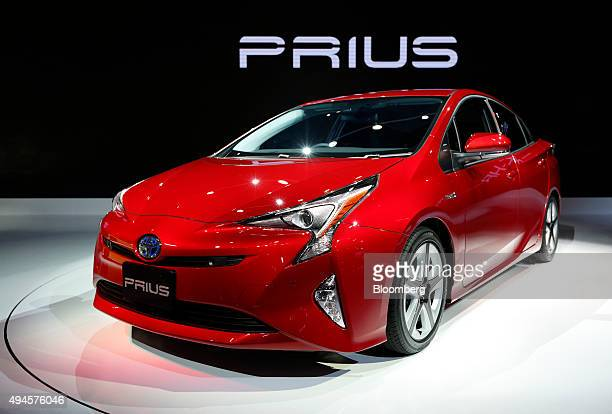 Toyota Motor Corp's fourthgeneration Prius hybrid vehicle stands on display at the Tokyo Motor Show in Tokyo Japan on Wednesday Oct 28 2015 Toyota...
