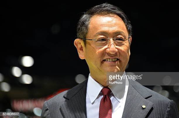 Toyota Motor Corp's President Akio Toyoda speaks during a presentation at the 44th Tokyo Motor Show in Tokyo Japan October 28 2015