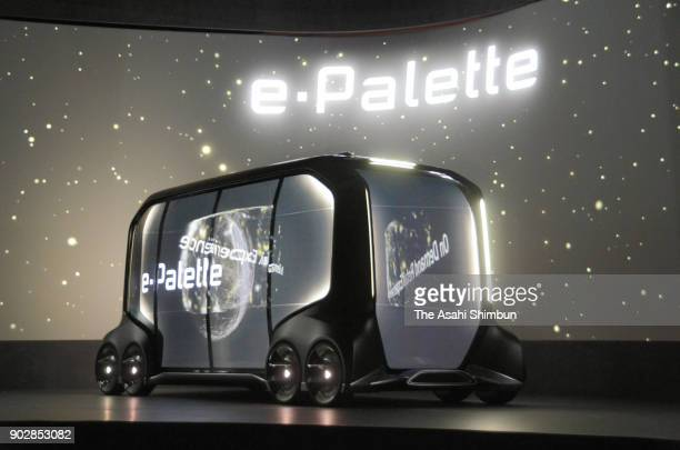 Toyota Motor Co's ePalette Concept Vehicle a fully autonomous batteryelectric vehicle with open control interface to allow partner companies to...