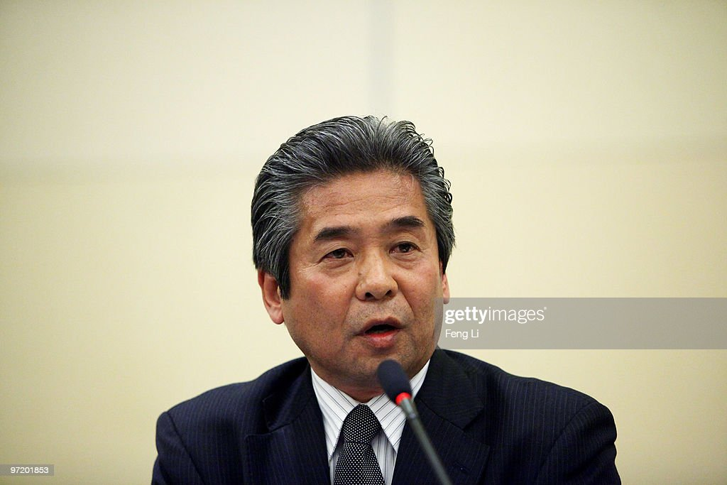 Toyota Motor (China) Investment Co. Ltd. President Kato Masahiro answers a media question during a news conference on March 1, 2010 in Beijing, China. Toyoda issued an apology to Chinese customers following a series of safety issues.