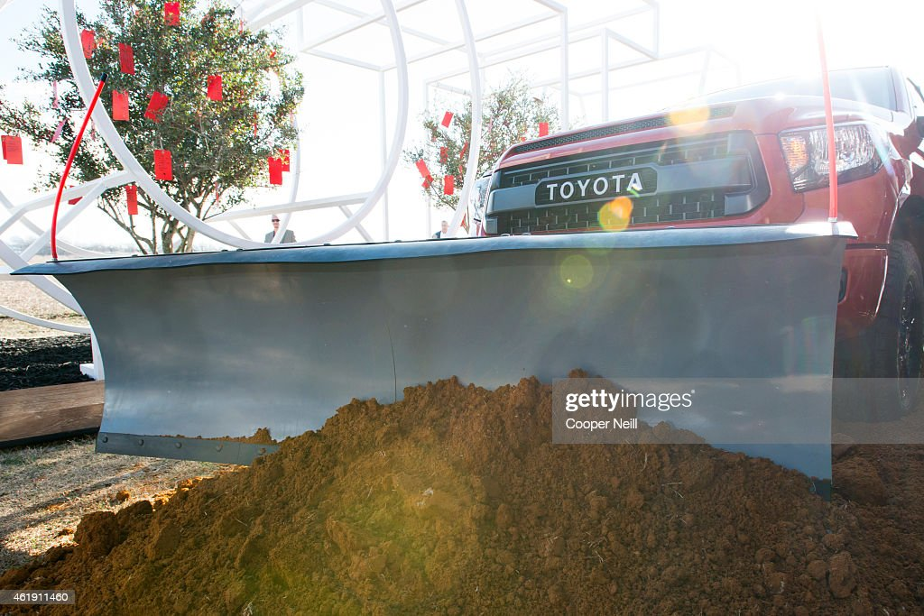 Toyota Motor North America formally breaks ground on its new North American headquarters on January 20, 2015 in Plano, Texas. With the help of a 2015 TRD Pro Series Tundra rigged with a plow, the first soil was moved on what will be the site of Toyotas new $350 million campus.