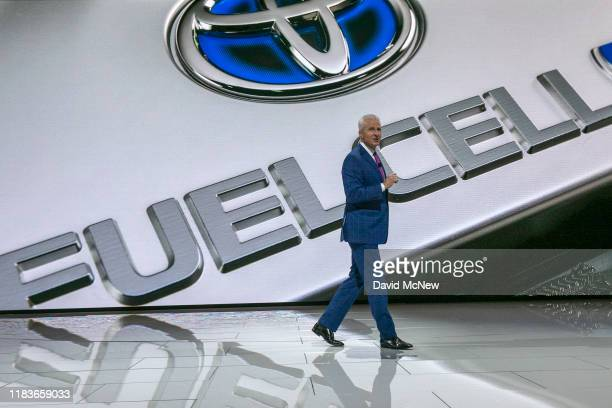 Toyota Motor North America Vice President and General Manager speak at AutoMobility LA on November 20, 2019 in Los Angeles, California. The four-day...