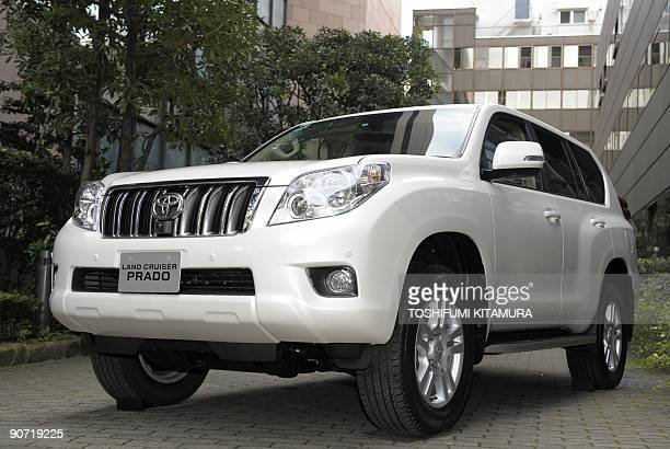 Toyota Motors' new Land Cruiser the 'Prado' is displayed during a press preview in Tokyo on September 14 2009 Toyota has started selling the...