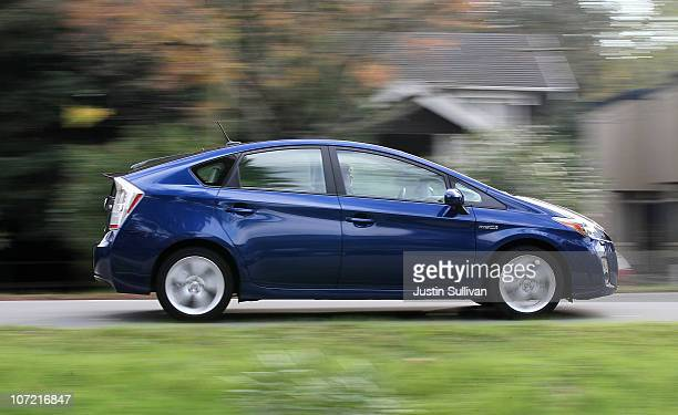 Toyota Prius drives in a residential neighborhood on November 30 2010 in San Anselmo California Toyota Motor Corp is issuing a recall for 650000...