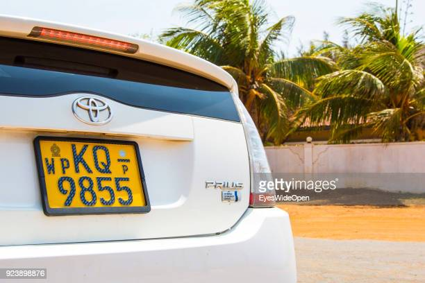 Toyota Prius hybrid car on February 13 2014 in Chilaw Sri Lanka