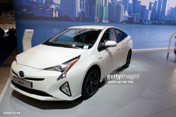 Toyota Prius hybrid 'n on display at Brussels Expo on January 13 2017 in Brussels Belgium The fourth generation is fitted with a 18 liter petrol...