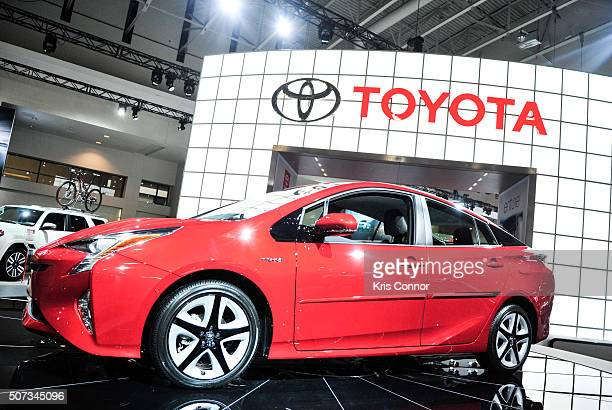 Toyota Prius is on display during the Washington Auto Show at the Washington Auto Show in Washington DC on January 28 2016