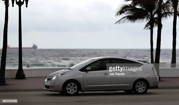 Toyota Prius is seen driving on A1A on February 9 2010 in Fort Lauderdale Florida Toyota announced that it is recalling the 2010 Prius and other...