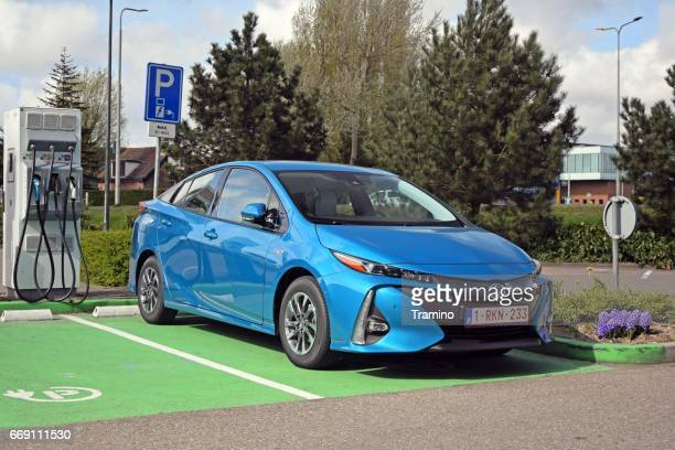 Toyota Prius Plug-in hybrid on the charging station