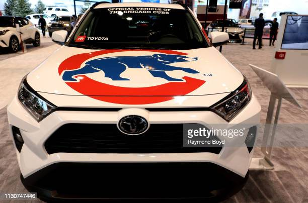Toyota Rav4 Chicago Cubs Edition is on display at the 111th Annual Chicago Auto Show at McCormick Place in Chicago, Illinois on February 8, 2019.