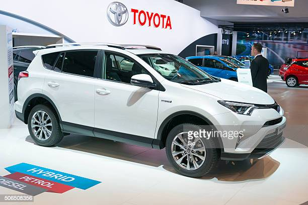 toyota rav4 hybrid crossover suv - toyota motor co stock pictures, royalty-free photos & images