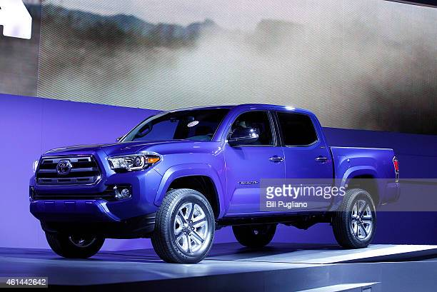 Toyota reveals the new Tacoma midsize pickup truck to the media at the 2015 North American International Auto Show on January 12 2015 in Detroit...