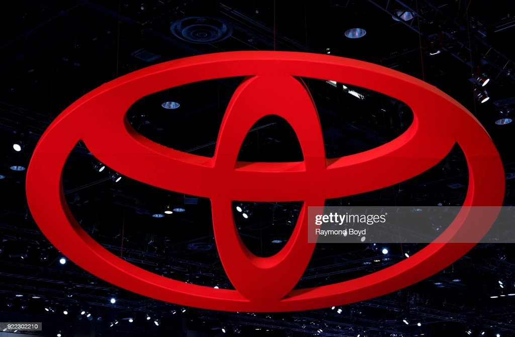 Toyota signage is on display at the 110th Annual Chicago Auto Show at McCormick Place in Chicago, Illinois on February 9, 2018.