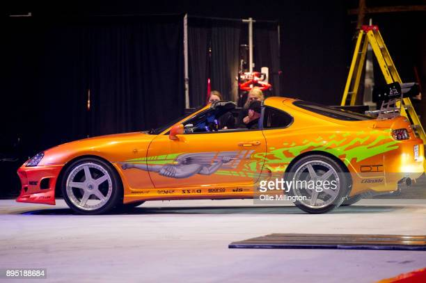 Toyota Supra MK IV used on screen by Paul Walker in The Fast and the Furious seen during the 'Fast Furious Live' technical rehearsal at NEC Arena on...