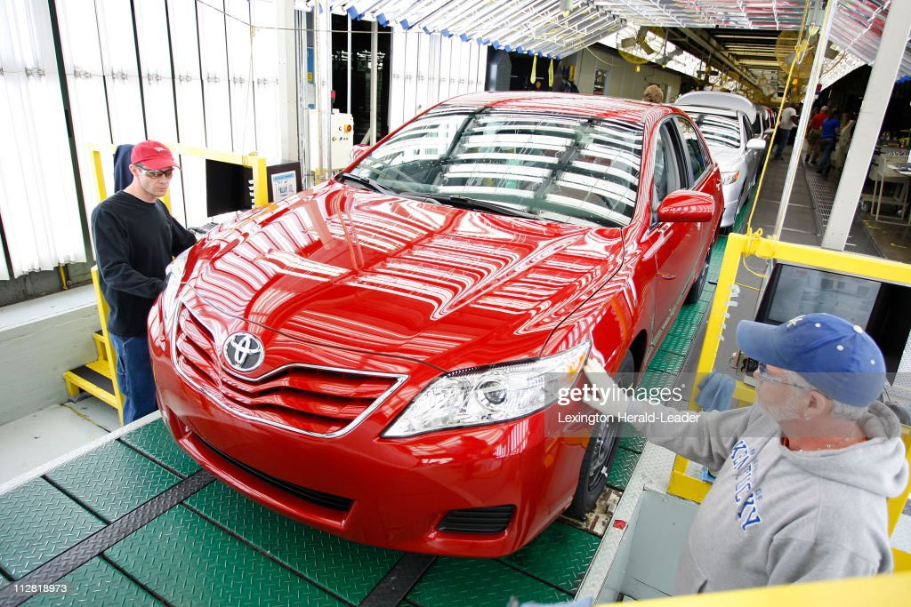 Toyota Team Members Scott Whitaker, Left, And Wayne Brooks, Right, Inspect A