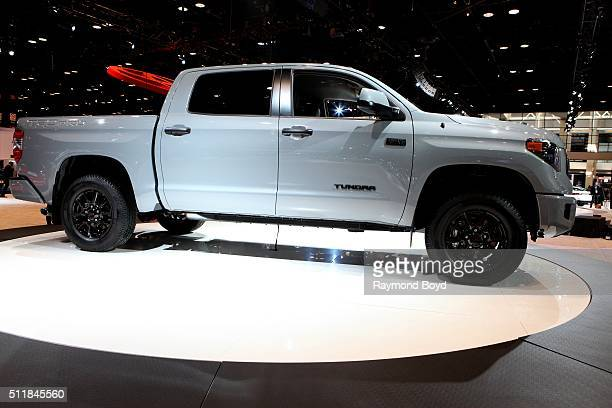 Toyota Tundra is on display at the 108th Annual Chicago Auto Show at McCormick Place in Chicago Illinois on February 11 2016