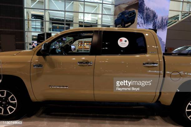 Toyota Tundra is on display at the 111th Annual Chicago Auto Show at McCormick Place in Chicago Illinois on February 8 2019