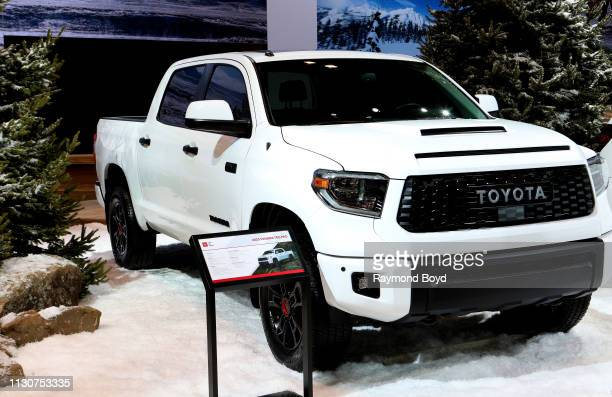 Toyota Tundra TRD Pro is on display at the 111th Annual Chicago Auto Show at McCormick Place in Chicago Illinois on February 8 2019