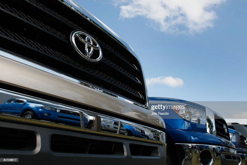 Toyota Of South Florida >> Toyota Vehicles Are Seen On A Sales Lot At Toyota Of South