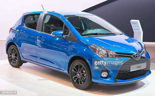 toyota yaris compact hatchback car - compact car stock photos and pictures