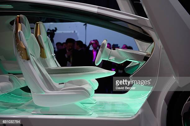 Toyota's Concepti an autonomous selfdiving vehicle is displayed at the Toyota booth at CES 2017 at the Las Vegas Convention Center on January 5 2017...