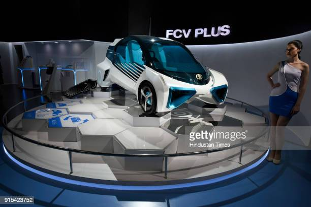 Toyota's FVC Plus on display during Auto Expo 2018 motor show at India Expomart on February 7 2018 in Greater Noida India The Expo will include two...