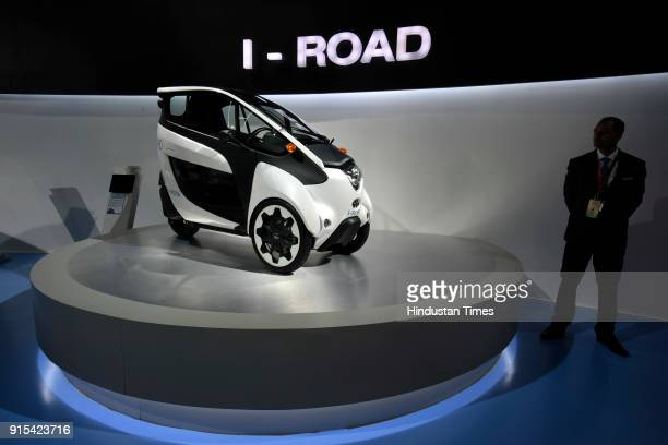 Toyota's IRoad on display during Auto Expo 2018 motor show at India Expomart on February 7 2018 in Greater Noida India The Expo will include two...