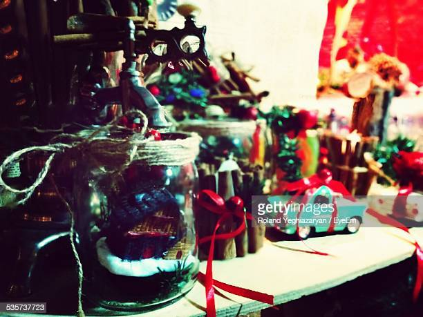 toys and christmas decorations - merry christmas in armenian stock photos and pictures