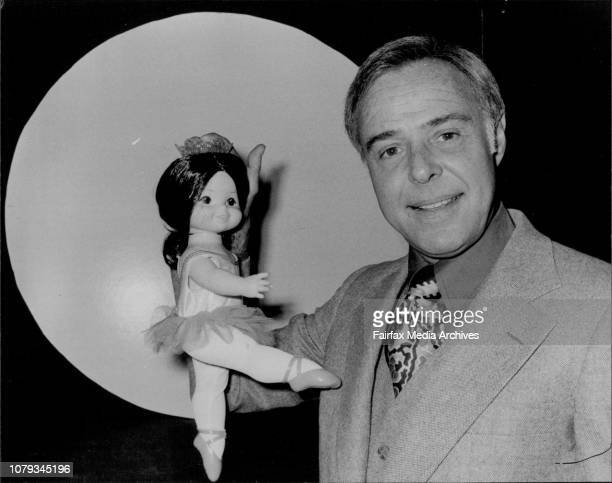 Toys from Mattel Toys Inc on show at the Boulevarde HotelPresident of Mattel Mr Raymond Wagner one of his latest dolls March 09 1979