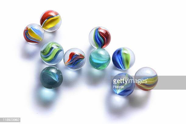 Toys: Marbles Isolated on White Background